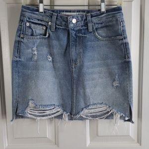 Lovers + Friends• 26 skirt denim jean destroyed